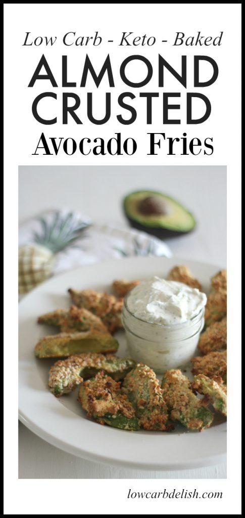 Almond crusted avocado fries. #lowcarbrecipes #lowcarb #ketorecipes #keto #avocado