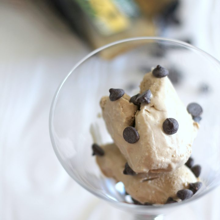 Homemade low carb coffee ice cream