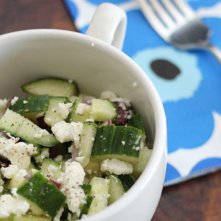Cucumber, Olive and Feta Salad