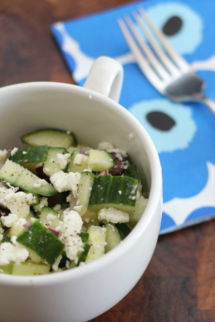 Cucumber, Olive and Feta Salad