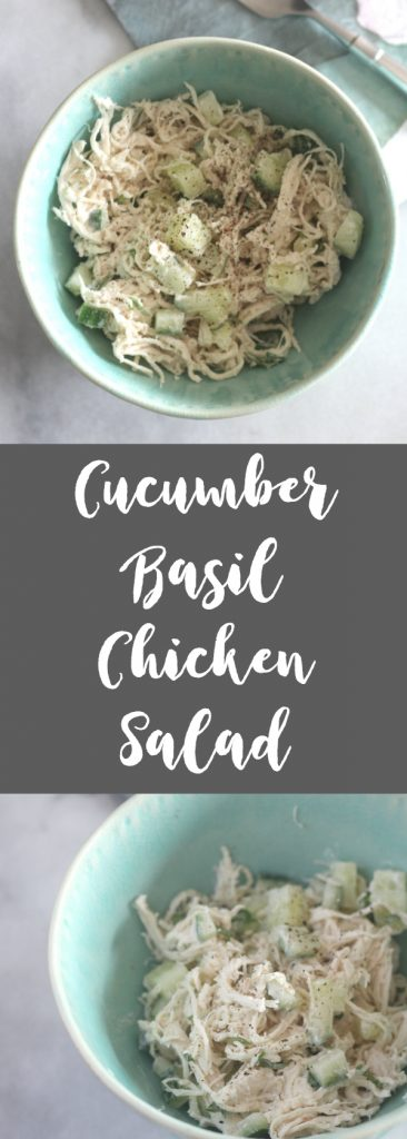 If you are watching your carbs, then this Cucumber Basil Chicken Salad recipe is a perfect protein filled lunch for you!