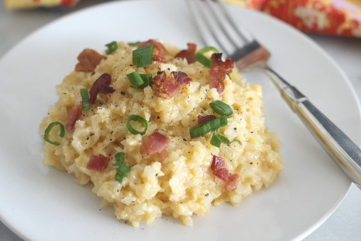 Cheesy Cheddar Cauliflower Rice
