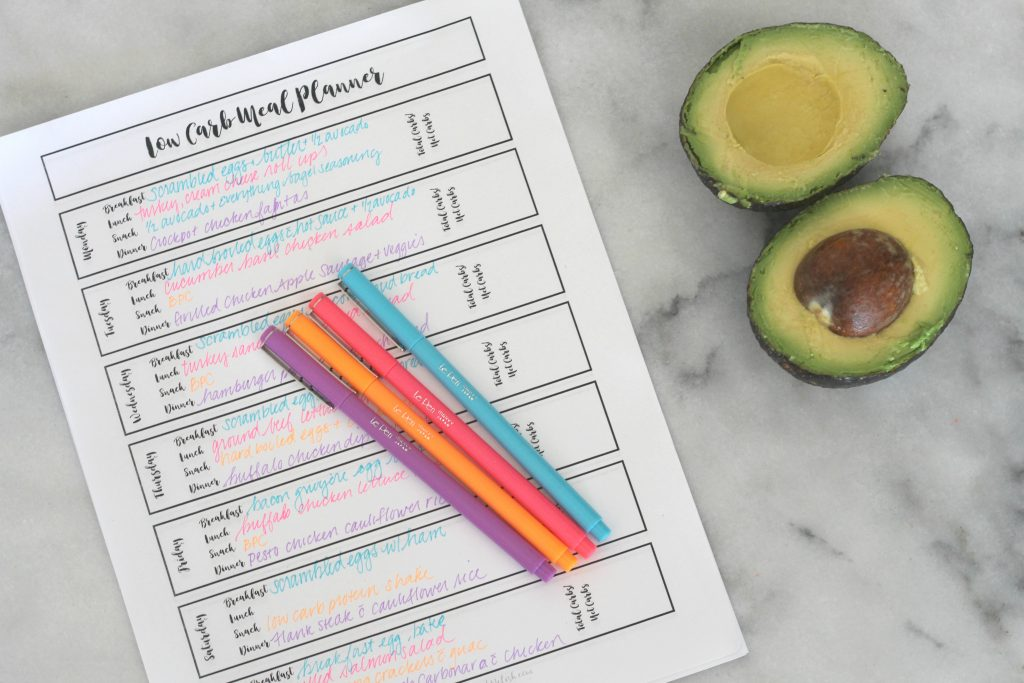 This free printable low carb meal planner will help you stay on track and meal plan the week!