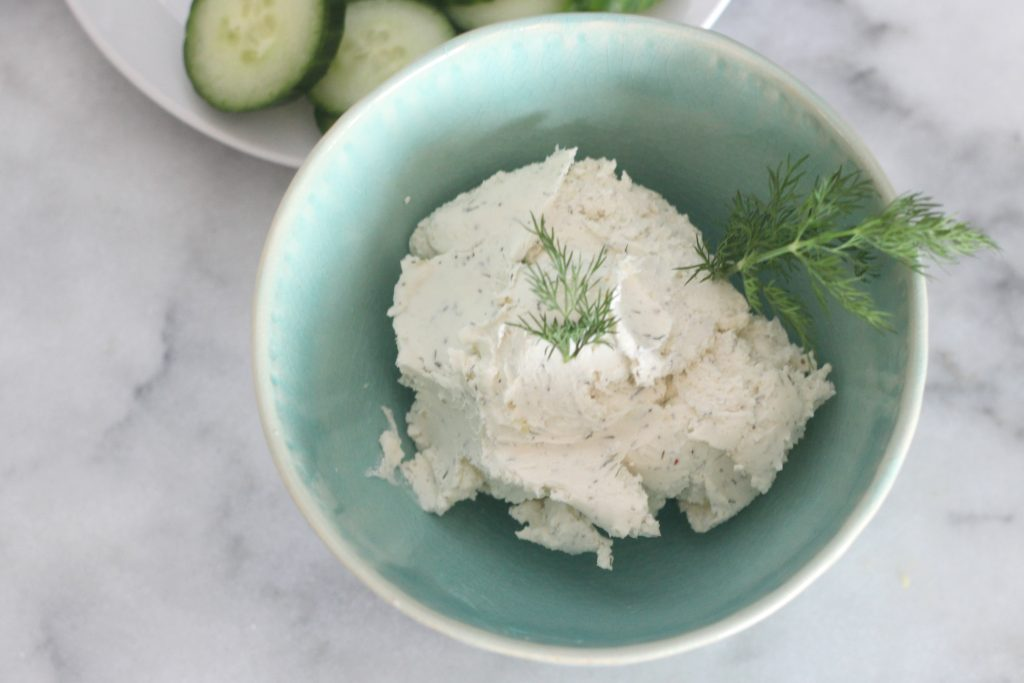 Put this garlic herb cream cheese spread on everything! Eggs, cucumbers, sandwiches...you name it! It's great for adding flavor to your low carb and keto foods!