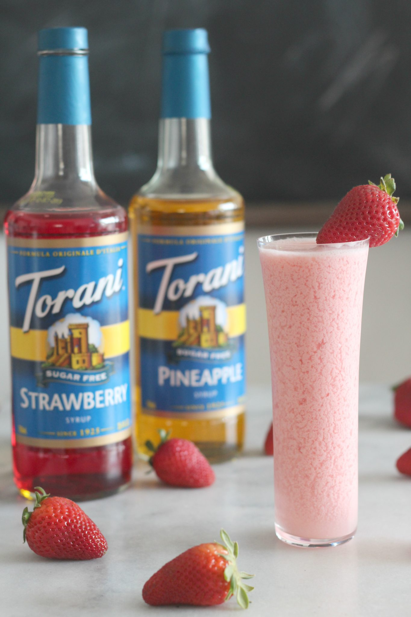 This recipe for Sugar Free Strawberry Piña Coladas is creamy and sweet and taste just like a strawberry piña colada should, just without all the sugar.