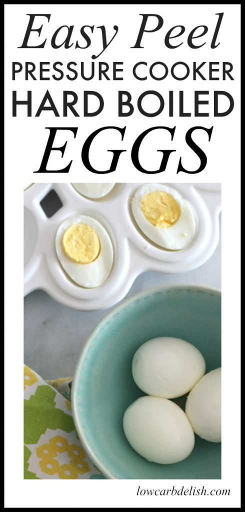 These pressure cooker hard boiled eggs are a game changer. They are easy to peel and are perfectly cooked everytime!