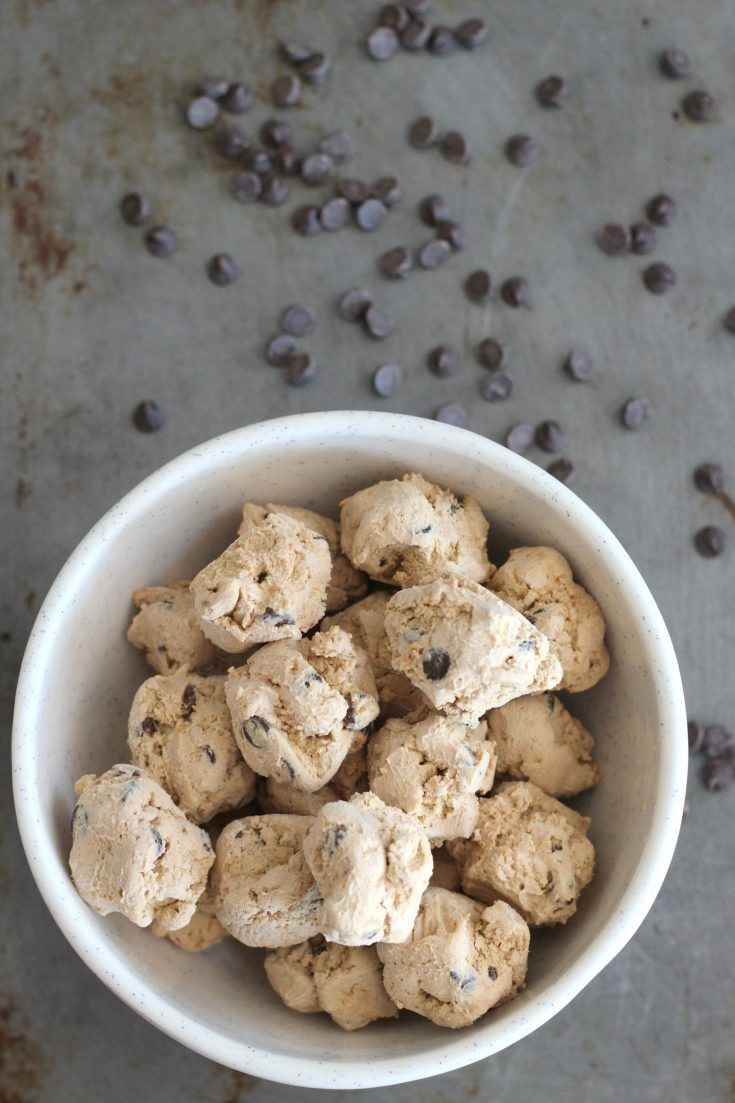 Low Carb Coffee Chip Frozen Cream Cheese Bites