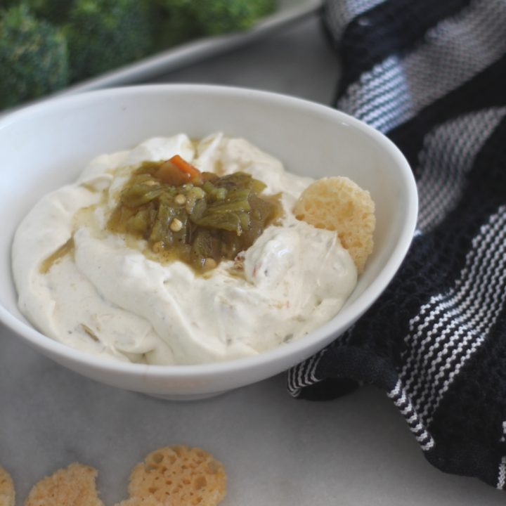 Hatch Green Chile Cream Cheese Dip