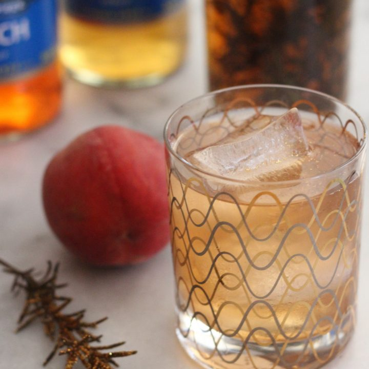 Sugar Free Summer Peach and Rosemary Cocktail