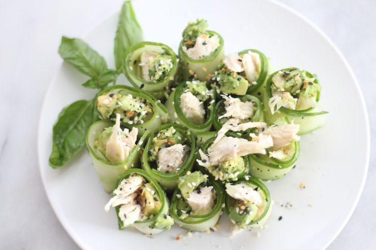 Chicken Avocado Cucumber Roll
