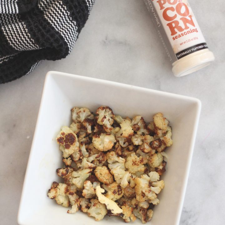 Roasted Cauliflower Popcorn