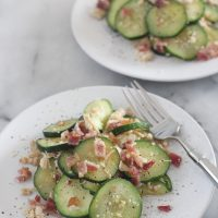 Quick Low Carb Zucchini, Chicken and Bacon Dinner