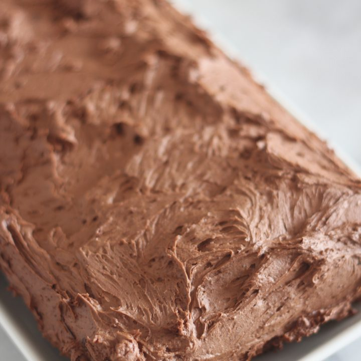 Low Carb Mocha Buttercream Frosting