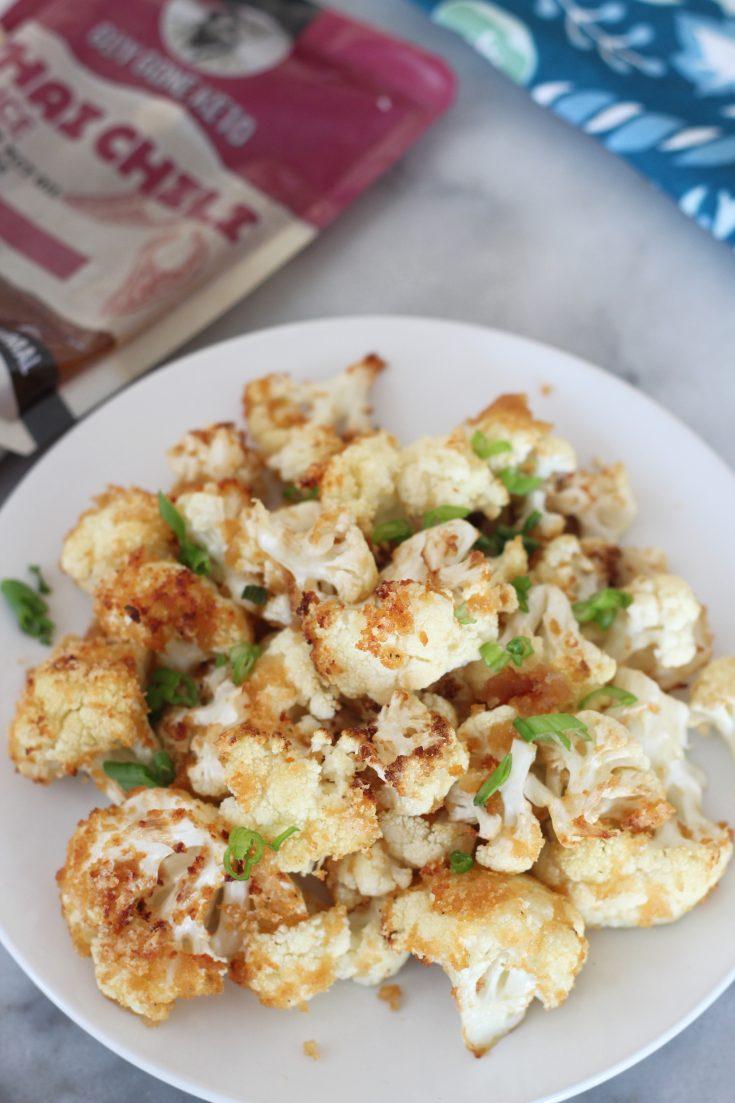 Air Fried Keto Thai Chili Cauliflower Bites