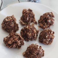 Chocolate Coconut Frozen Nut Butter Bites