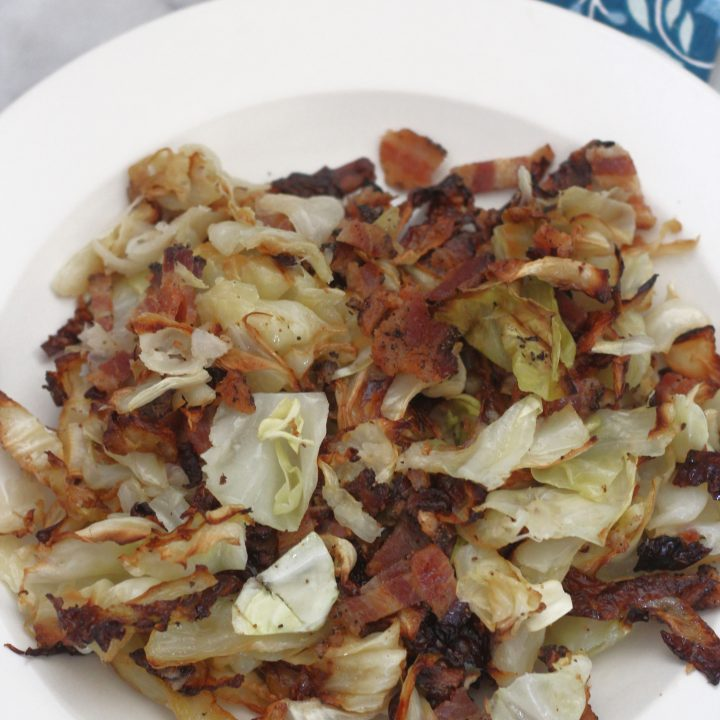 Keto Bacon and Roasted Cabbage