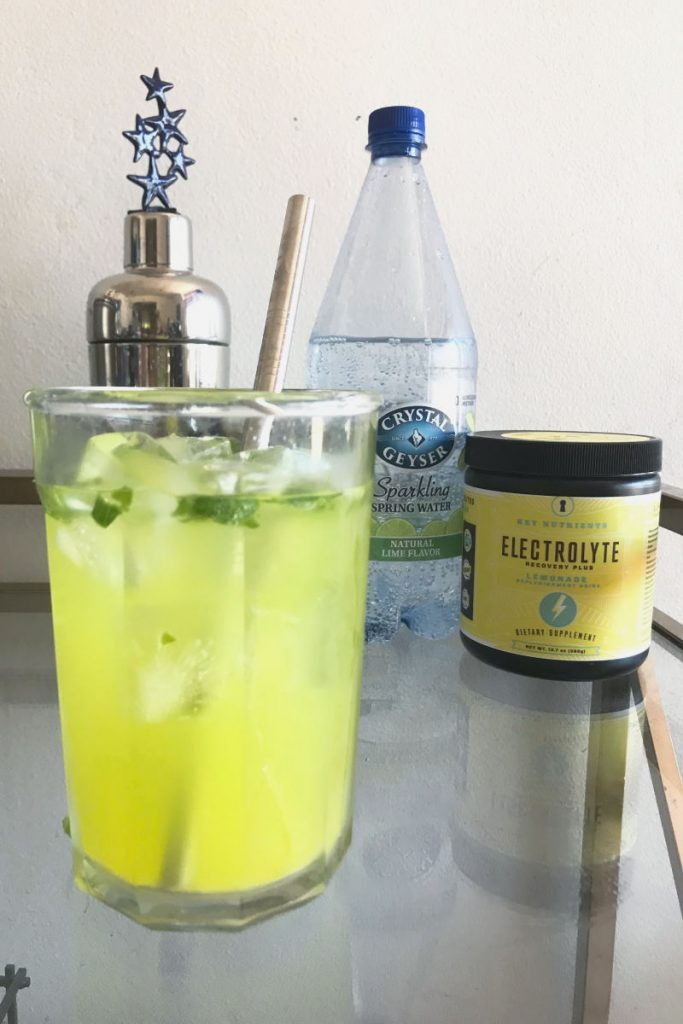 This basil lemonade electrolyte fizz recipe will add some fun and flavor to the electrolytes needed when eating keto. All for zero carbs and calories too!