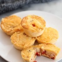 Bacon Bell Pepper and Cheddar Egg Bites