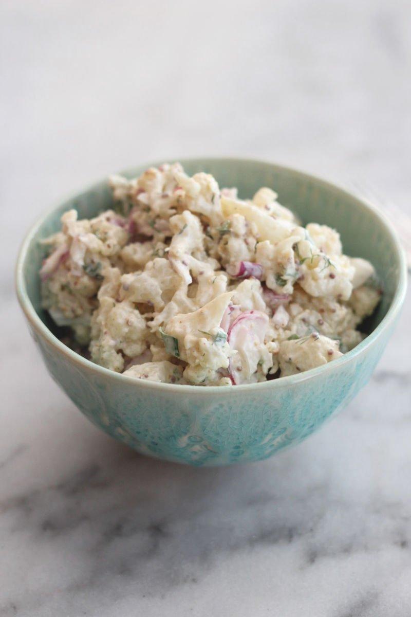 keto cauliflower quot potato quot salad low carb delish
