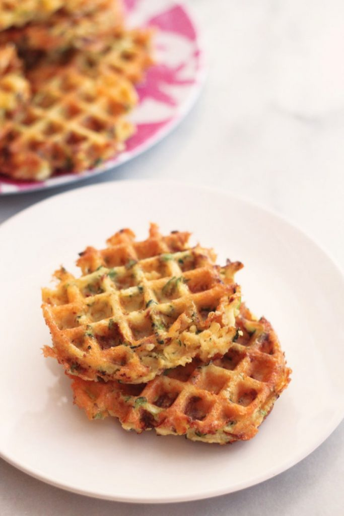 This recipe for chicken, zucchini and cheese waffles is great for meal prepping and a tasty, keto alternative to traditional waffles.