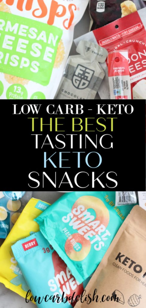 Have you tried some keto snacks that have been disappointing? Me too. Here is a list of the best tasting keto snacks to supplement your low carb / keto lifestyle!  #lowcarbdelish #keto #ketosnacks #lowcarbsnacks #ketoshoppinglist