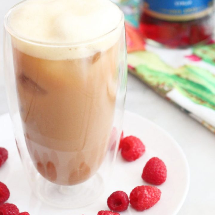 White Chocolate Raspberry Iced Keto Egg Coffee