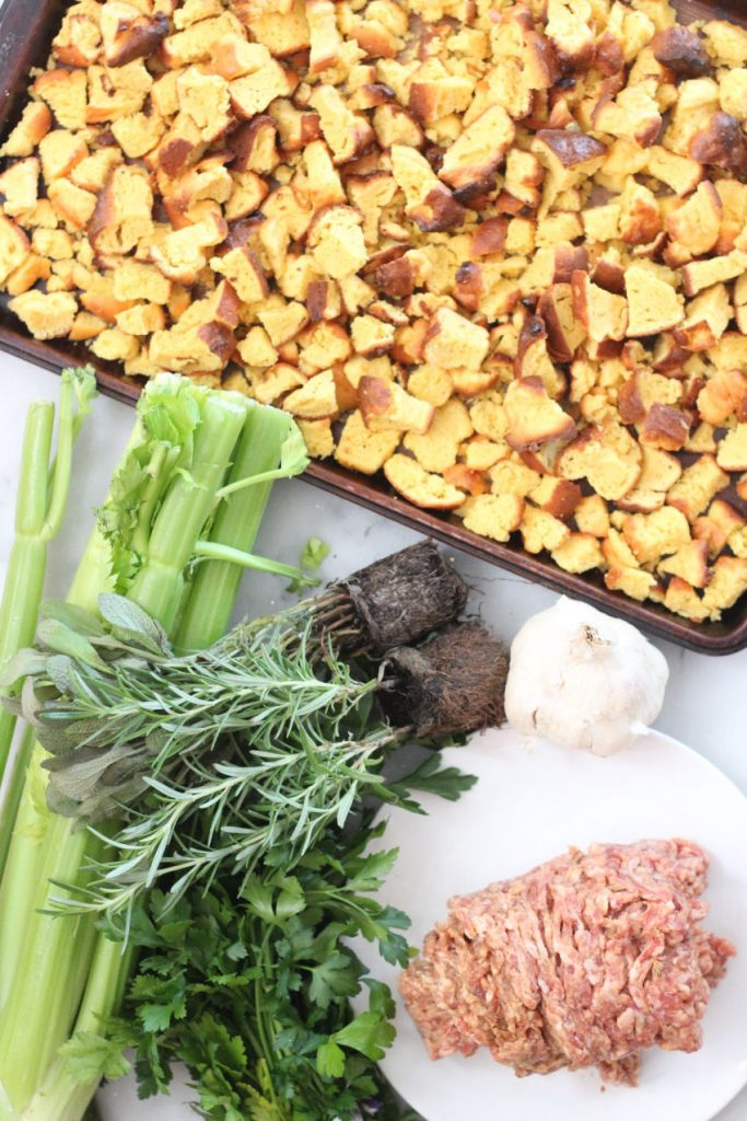 lupin biscuit and sausage stuffing ingredients
