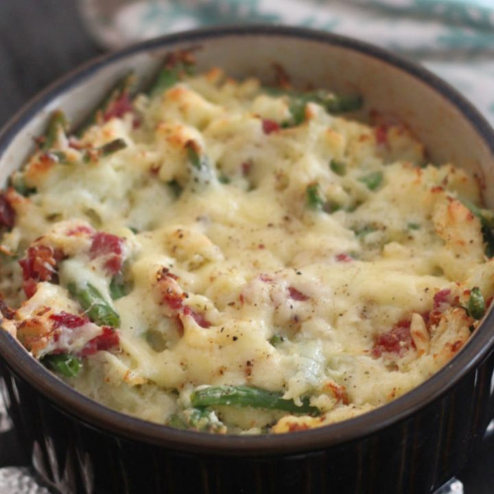 Mashed Cauliflower and Ham Casserole